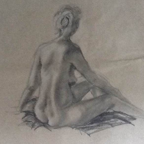 An example of Jane Archer's life drawing.